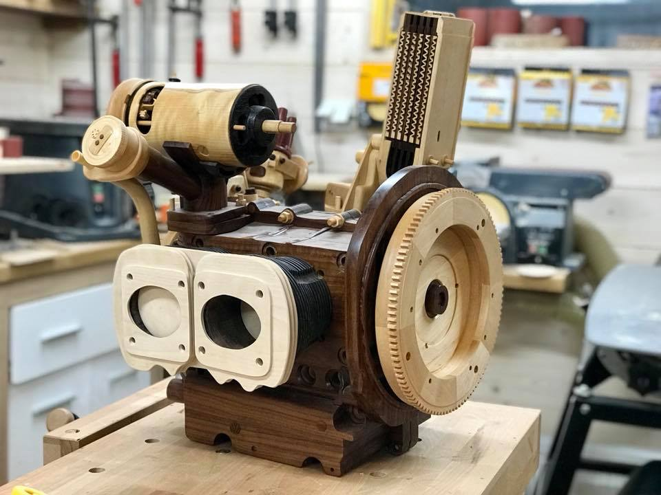 Wooden Volkswagen Engine Wood Art Finland (116)