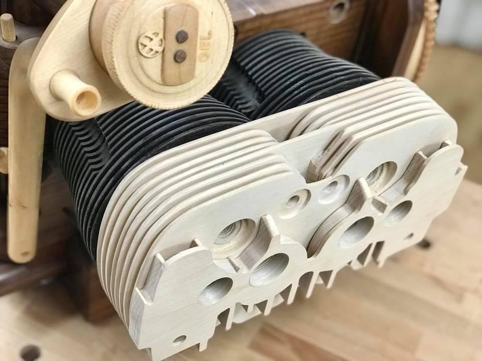 Wooden Volkswagen Engine Wood Art Finland (125)