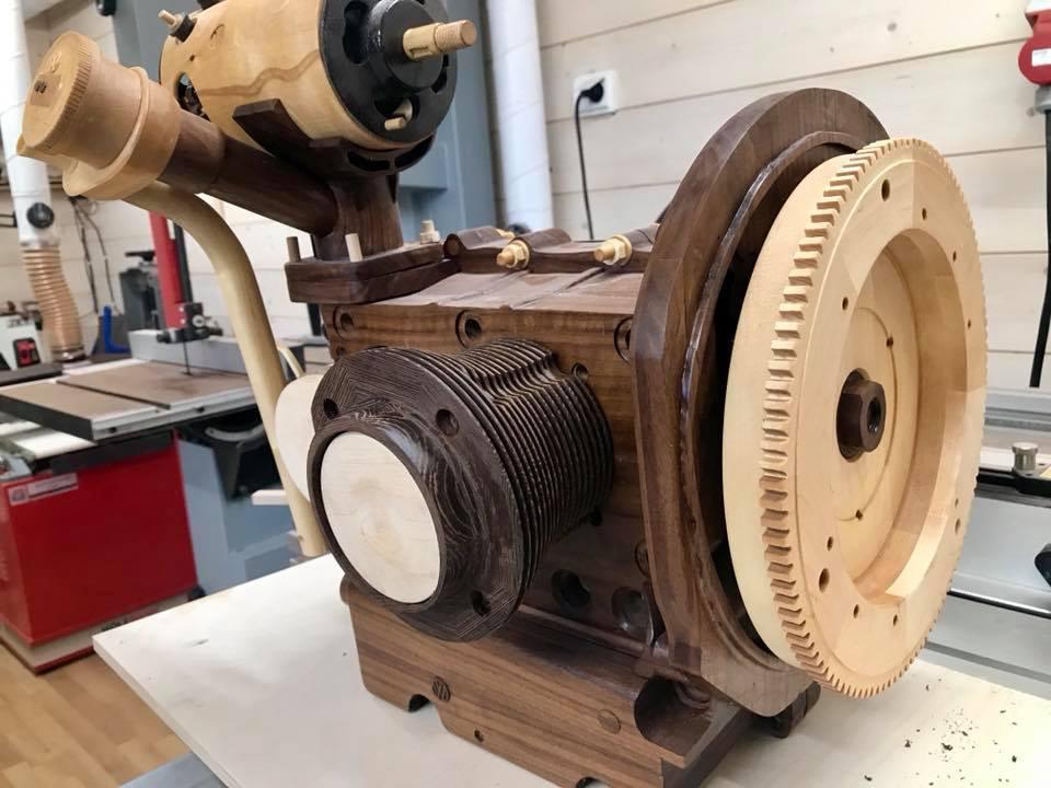 Wooden Volkswagen Engine Wood Art Finland (13)