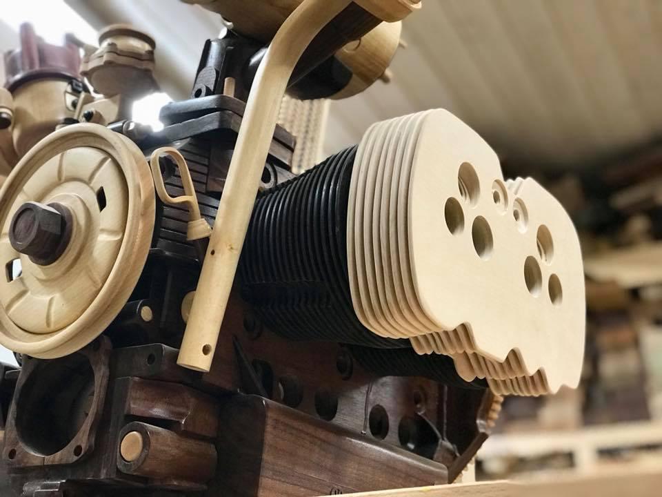 Wooden Volkswagen Engine Wood Art Finland (133)
