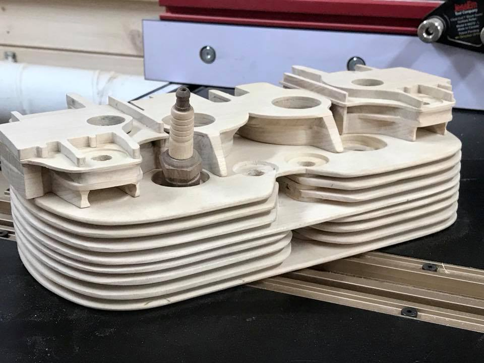 Wooden Volkswagen Engine Wood Art Finland (140)