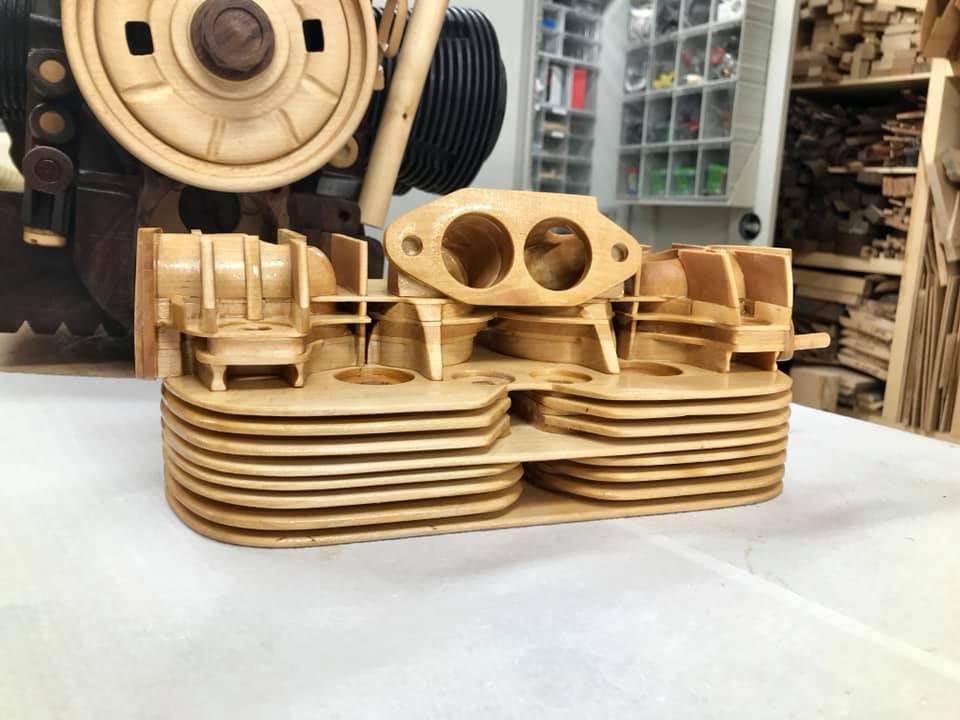 Wooden Volkswagen Engine Wood Art Finland (148)