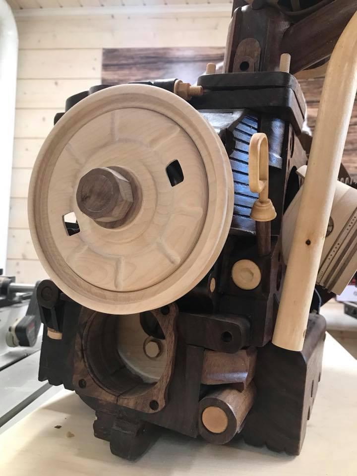 Wooden Volkswagen Engine Wood Art Finland (15)