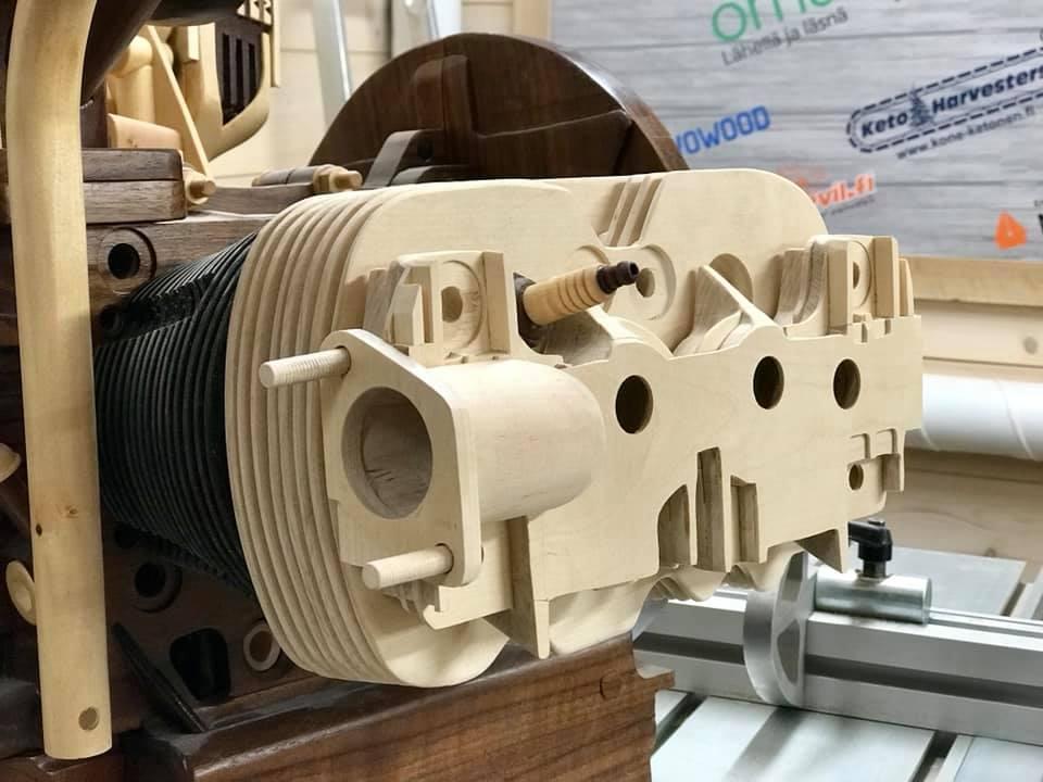 Wooden Volkswagen Engine Wood Art Finland (151)