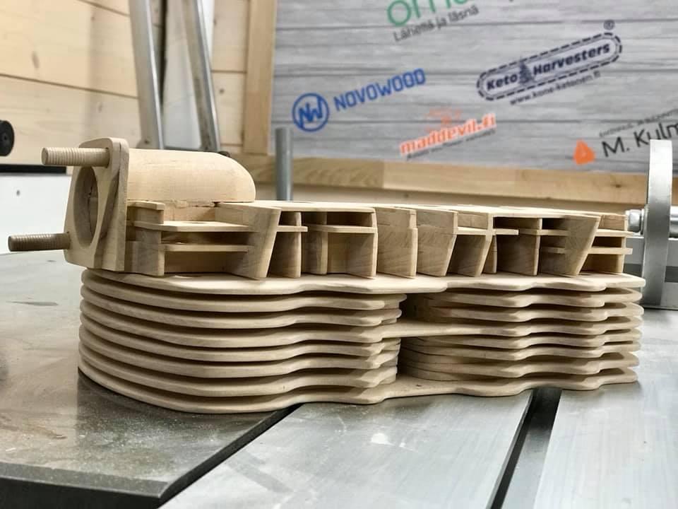 Wooden Volkswagen Engine Wood Art Finland (152)