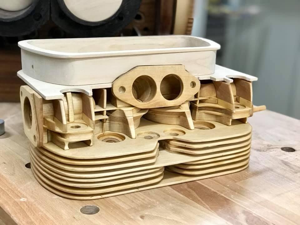 Wooden Volkswagen Engine Wood Art Finland (154)