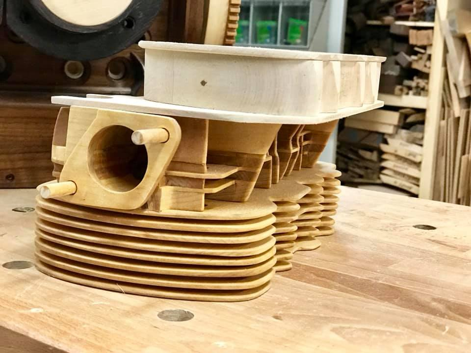 Wooden Volkswagen Engine Wood Art Finland (156)