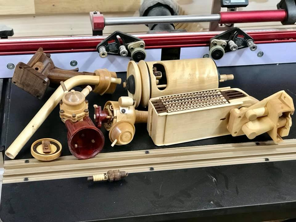 Wooden Volkswagen Engine Wood Art Finland (157)