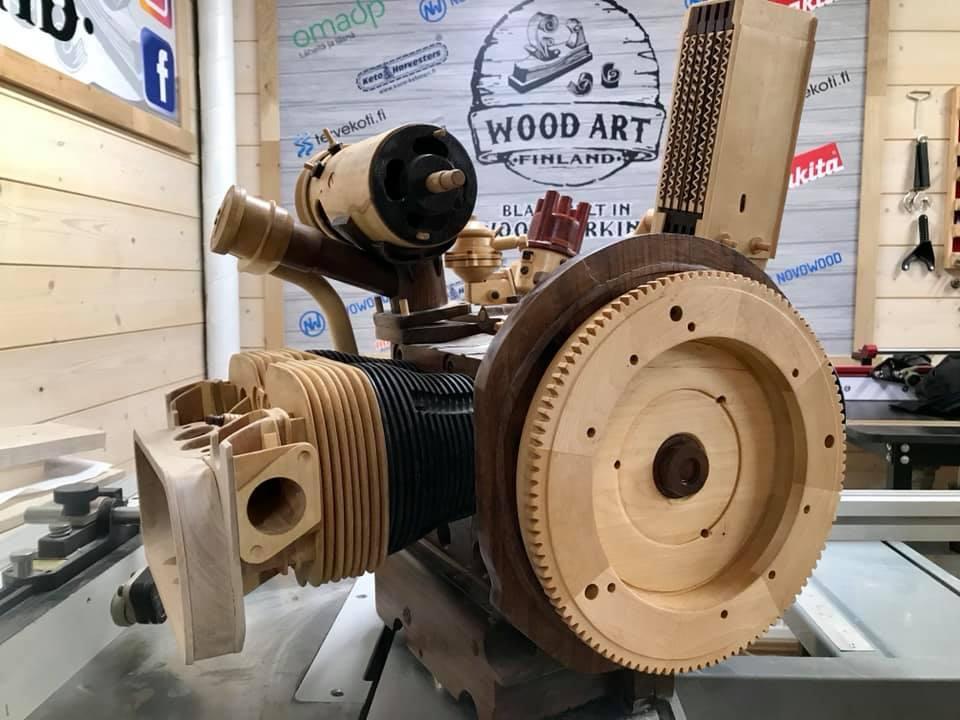 Wooden Volkswagen Engine Wood Art Finland (164)