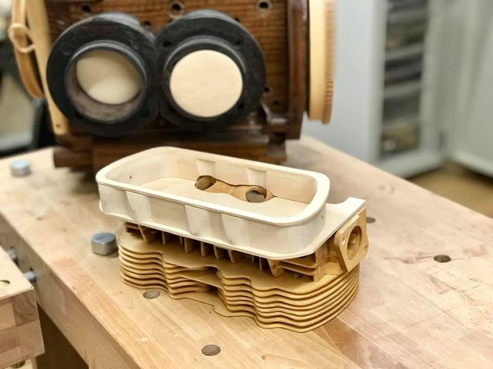 Wooden Volkswagen Engine Wood Art Finland (166)