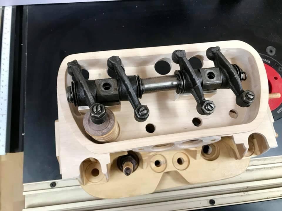 Wooden Volkswagen Engine Wood Art Finland (168)