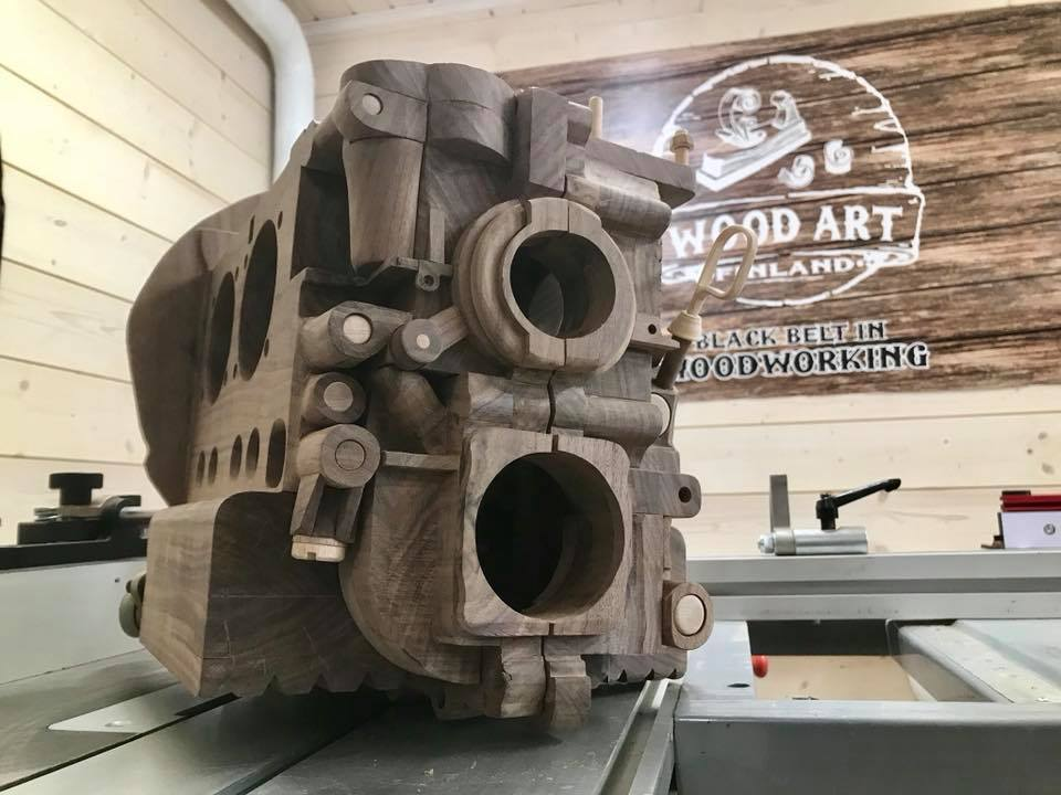 Wooden Volkswagen Engine Wood Art Finland (181)