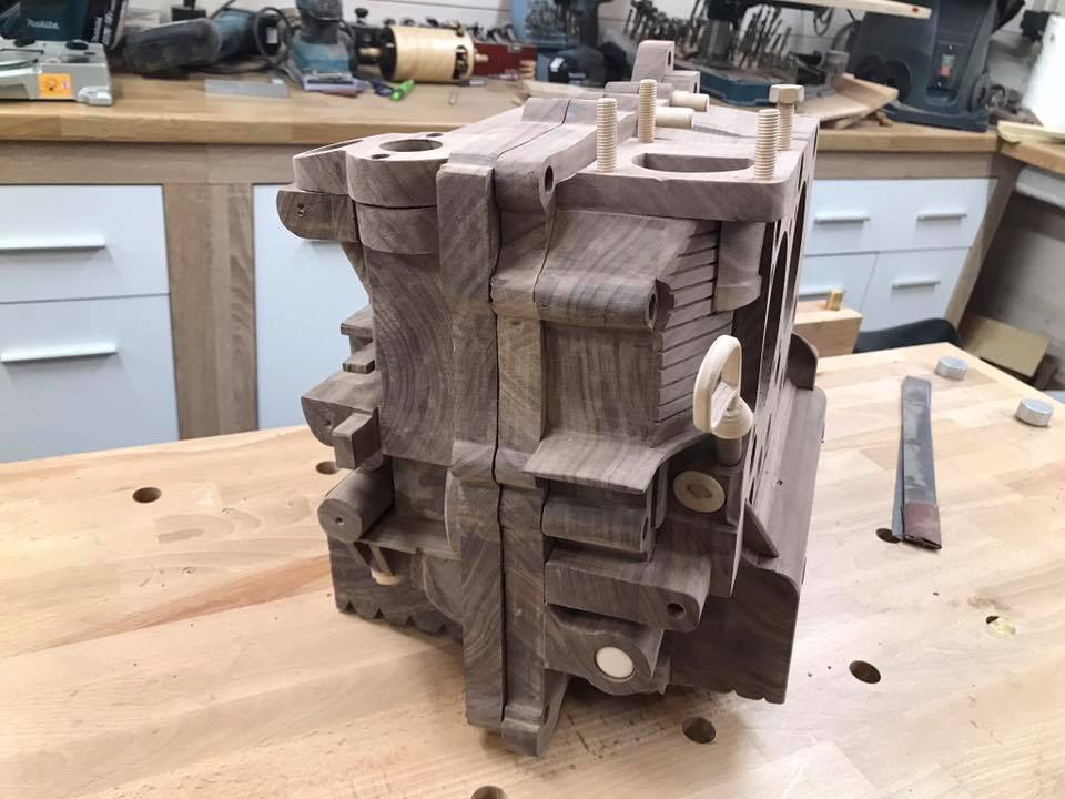 Wooden Volkswagen Engine Wood Art Finland (186)