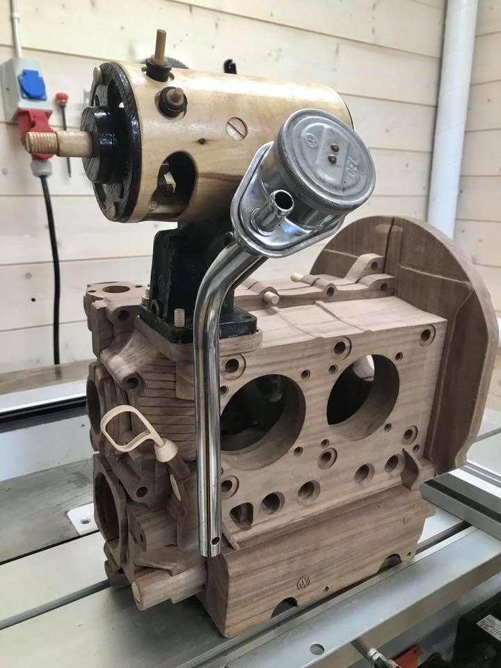 Wooden Volkswagen Engine Wood Art Finland (188)
