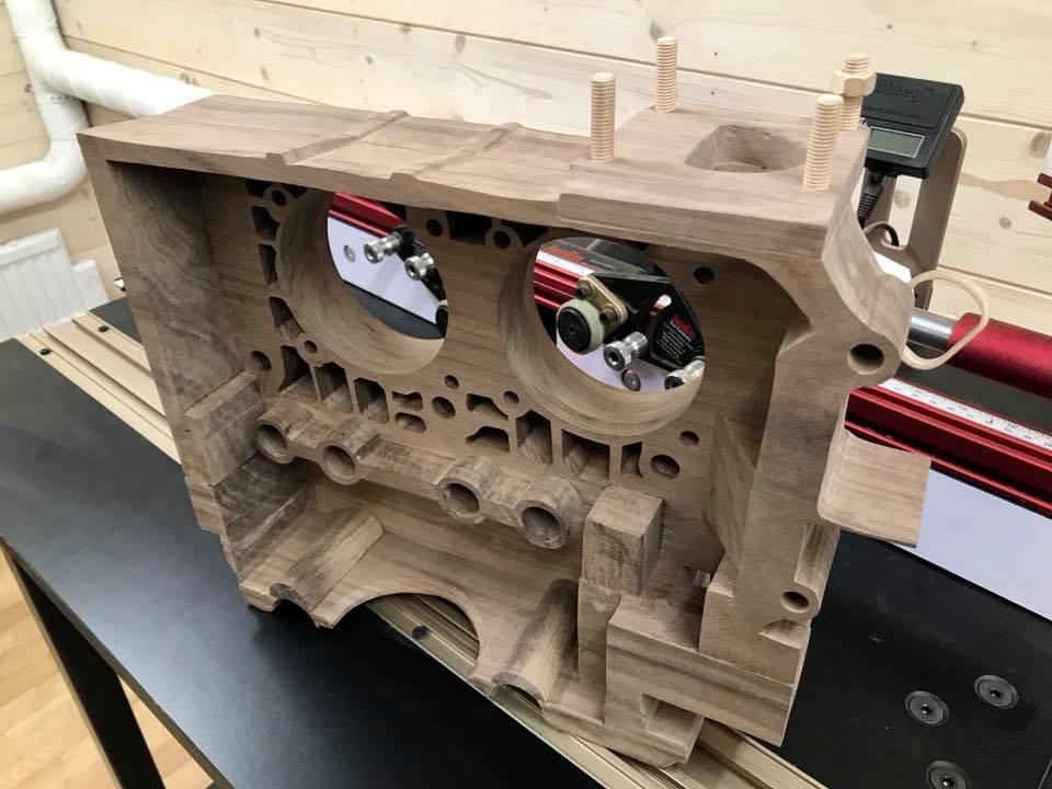 Wooden Volkswagen Engine Wood Art Finland (207)