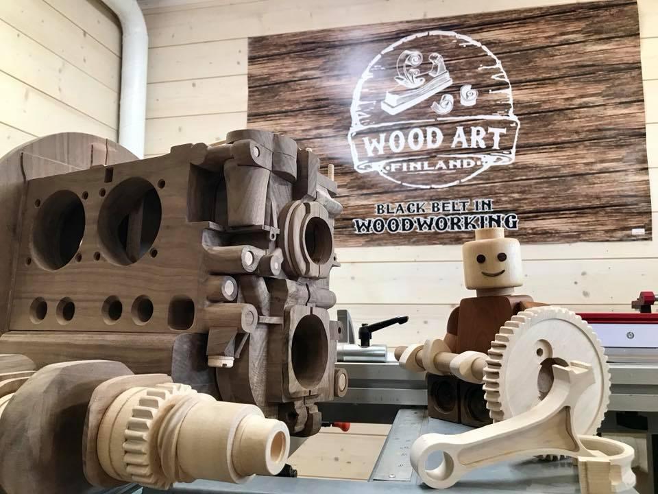 Wooden Volkswagen Engine Wood Art Finland (210)
