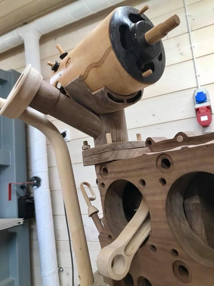 Wooden Volkswagen Engine Wood Art Finland (214)