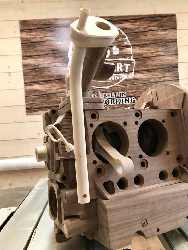 Wooden Volkswagen Engine Wood Art Finland (219)