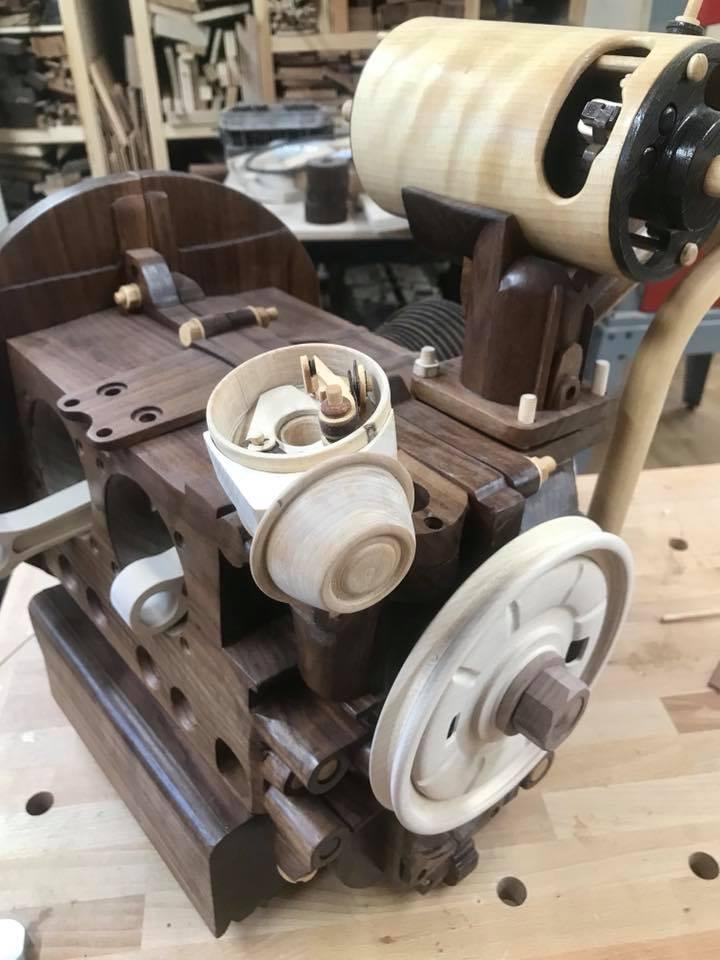 Wooden Volkswagen Engine Wood Art Finland (22)
