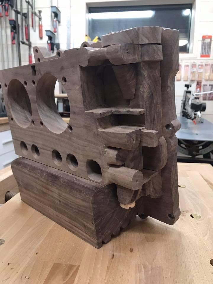 Wooden Volkswagen Engine Wood Art Finland (224)