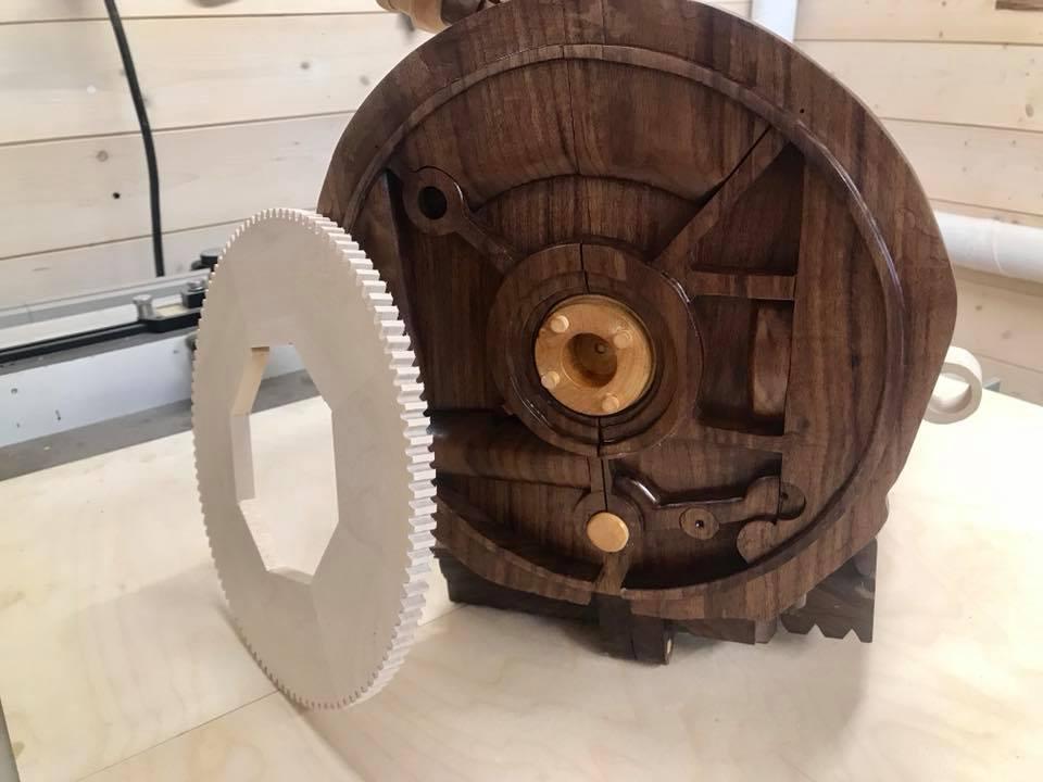 Wooden Volkswagen Engine Wood Art Finland (229)