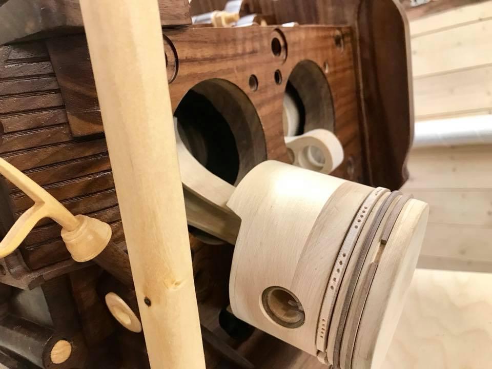 Wooden Volkswagen Engine Wood Art Finland (239)