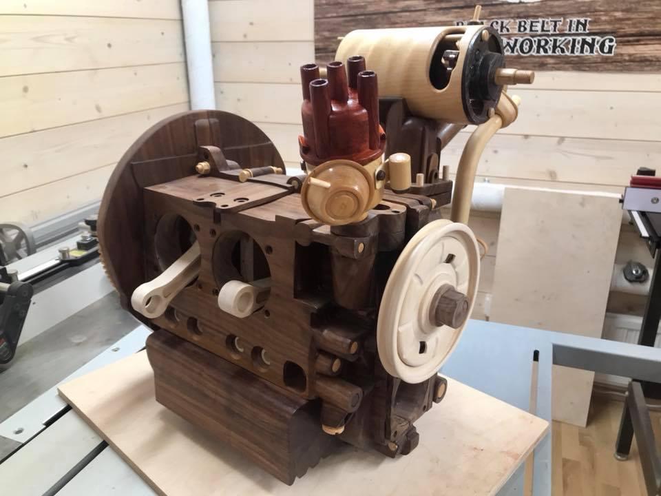 Wooden Volkswagen Engine Wood Art Finland (33)