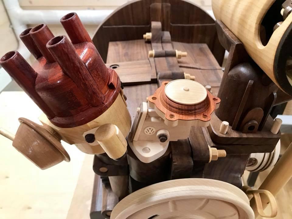 Wooden Volkswagen Engine Wood Art Finland (40)