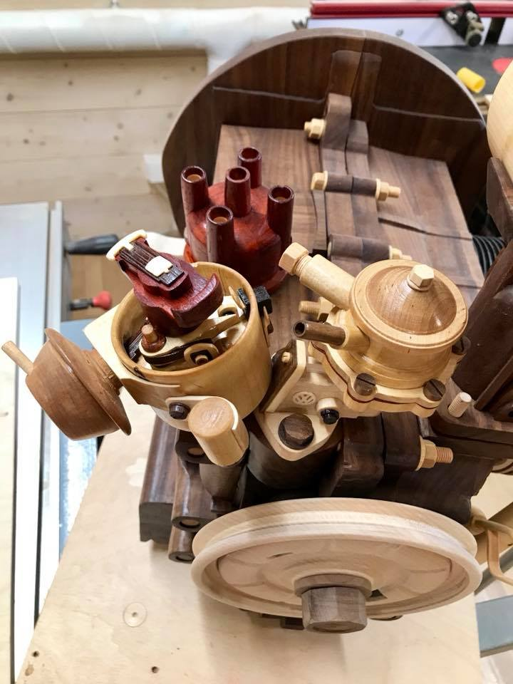 Wooden Volkswagen Engine Wood Art Finland (44)