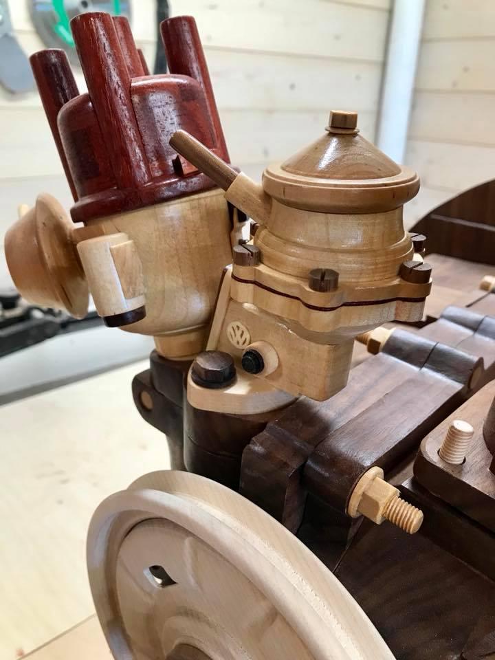 Wooden Volkswagen Engine Wood Art Finland (46)