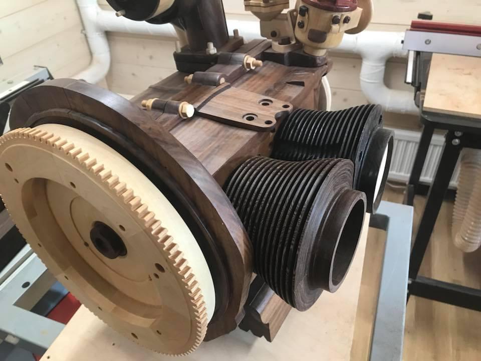 Wooden Volkswagen Engine Wood Art Finland (53)