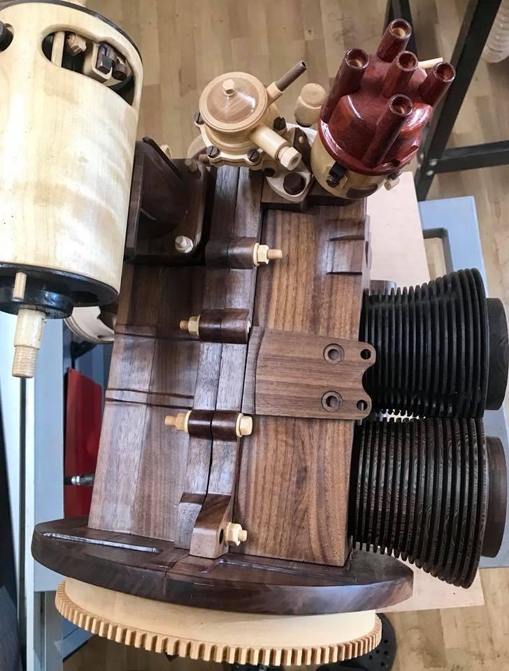 Wooden Volkswagen Engine Wood Art Finland (58)