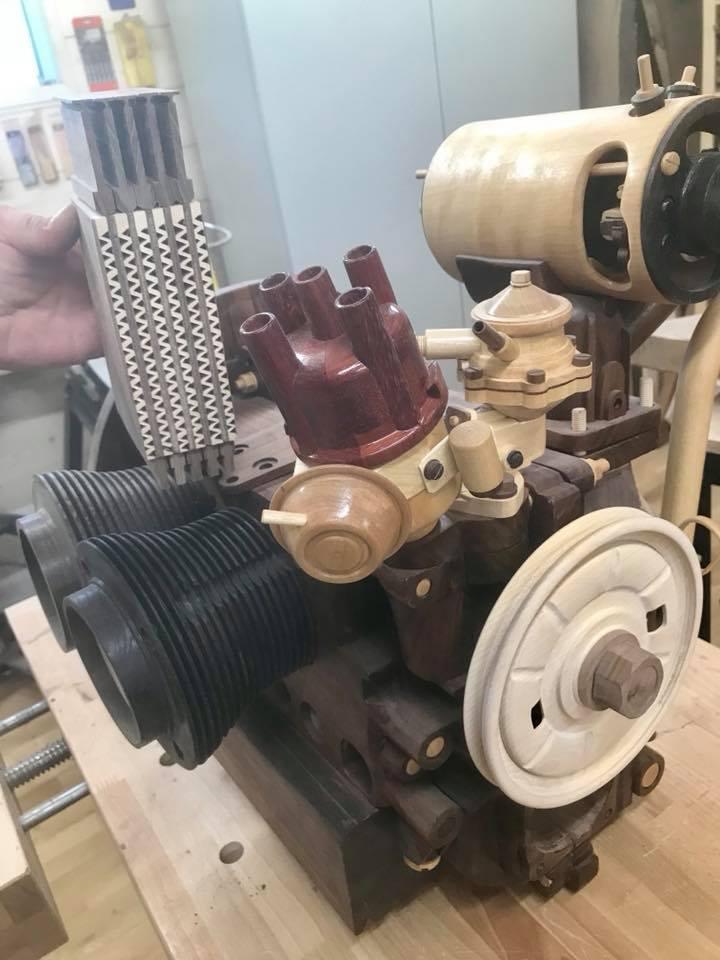 Wooden Volkswagen Engine Wood Art Finland (64)