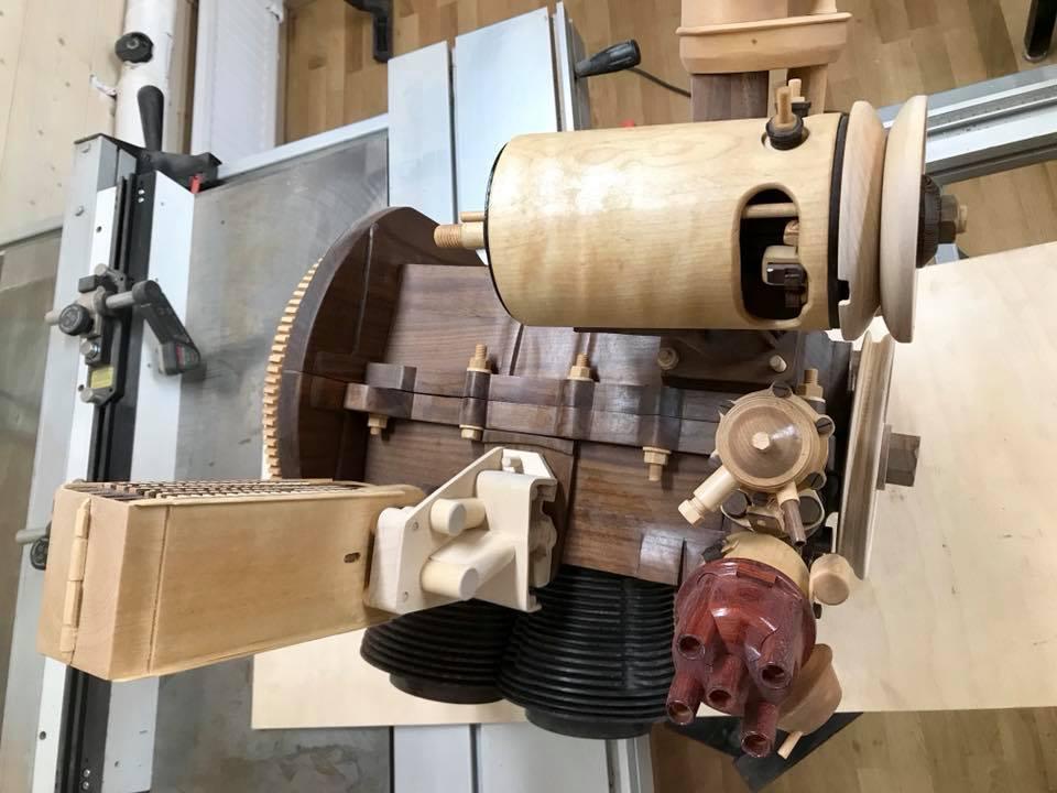 Wooden Volkswagen Engine Wood Art Finland (74)