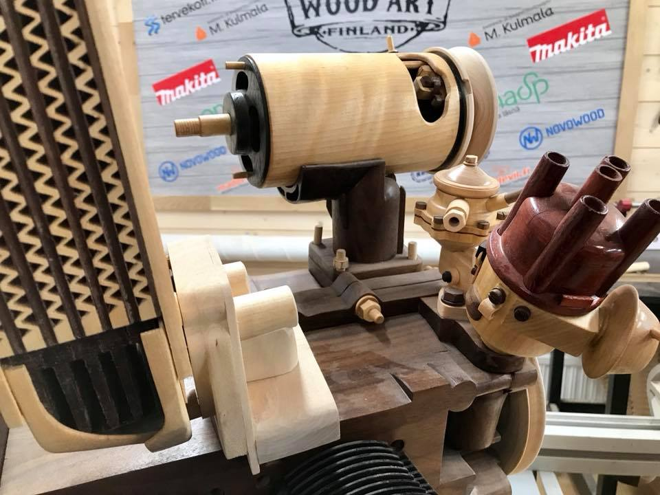 Wooden Volkswagen Engine Wood Art Finland (78)