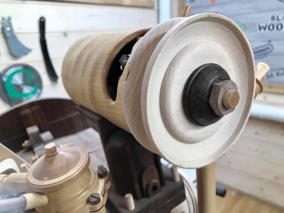 Wooden Volkswagen Engine Wood Art Finland (79)