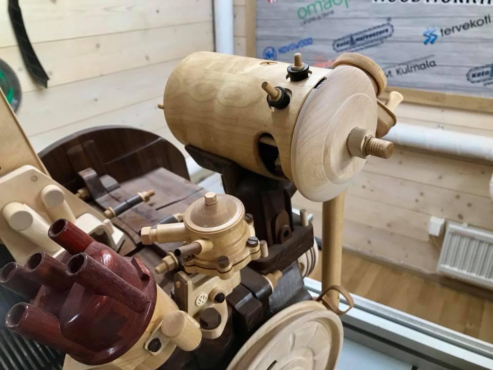 Wooden Volkswagen Engine Wood Art Finland (80)