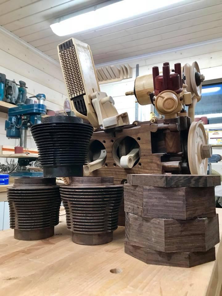 Wooden Volkswagen Engine Wood Art Finland (85)