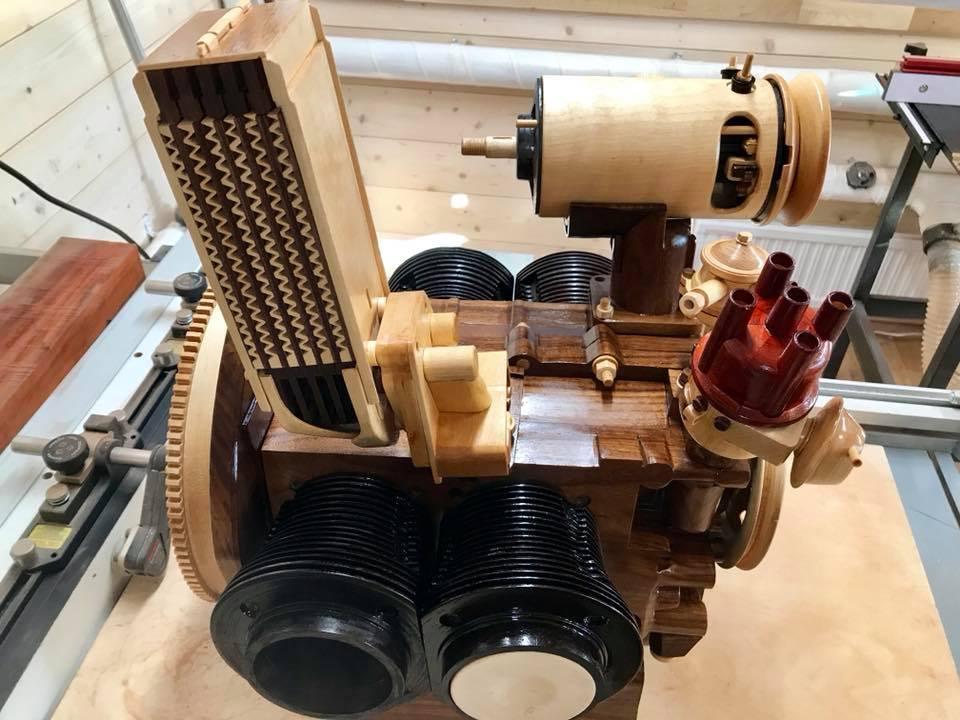 Wooden Volkswagen Engine Wood Art Finland (89)