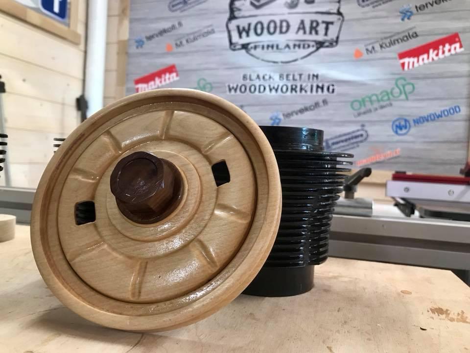 Wooden Volkswagen Engine Wood Art Finland (97)