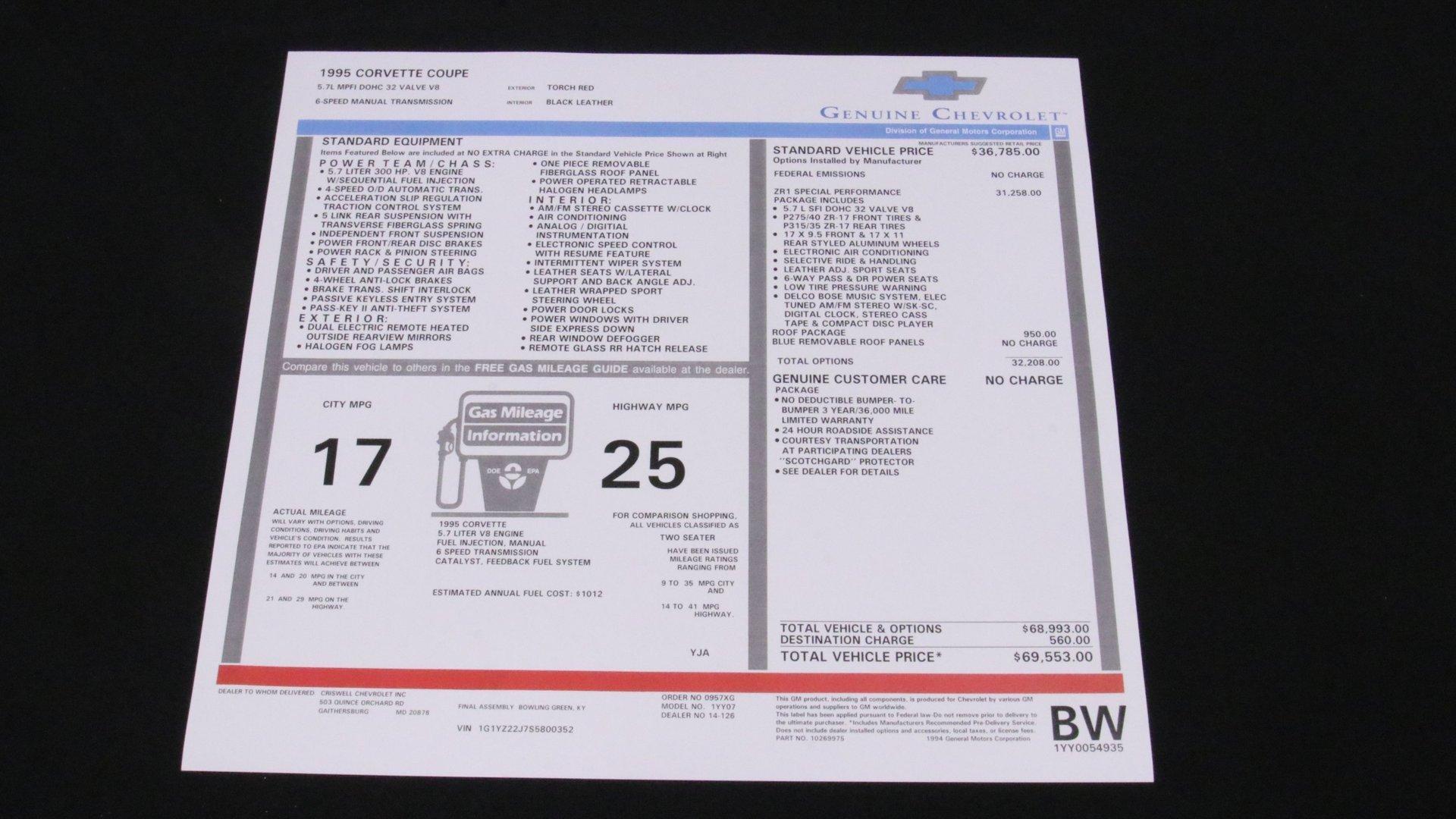 1995_Chevrolet_Corvette_ZR1_sale_0061