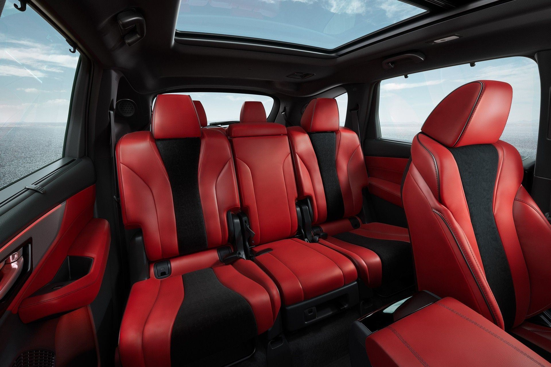 2022 SH-AWD A-Spec Red Interior Second Row Seats Interior Static