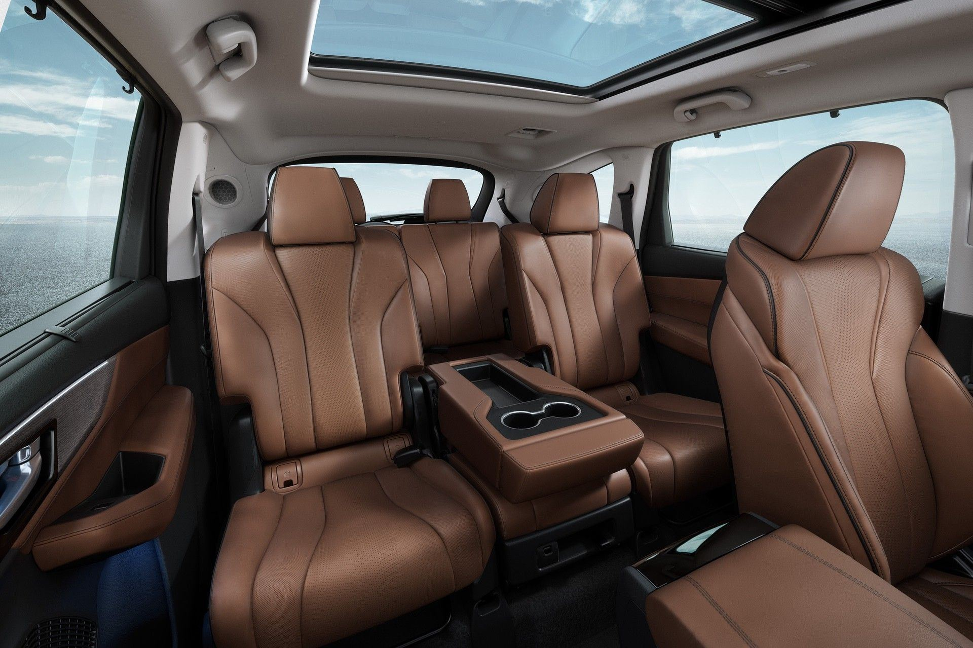 2022 SH-AWD Advance Espresso Interior Second Row Seats Interior Static Folded Center Seat