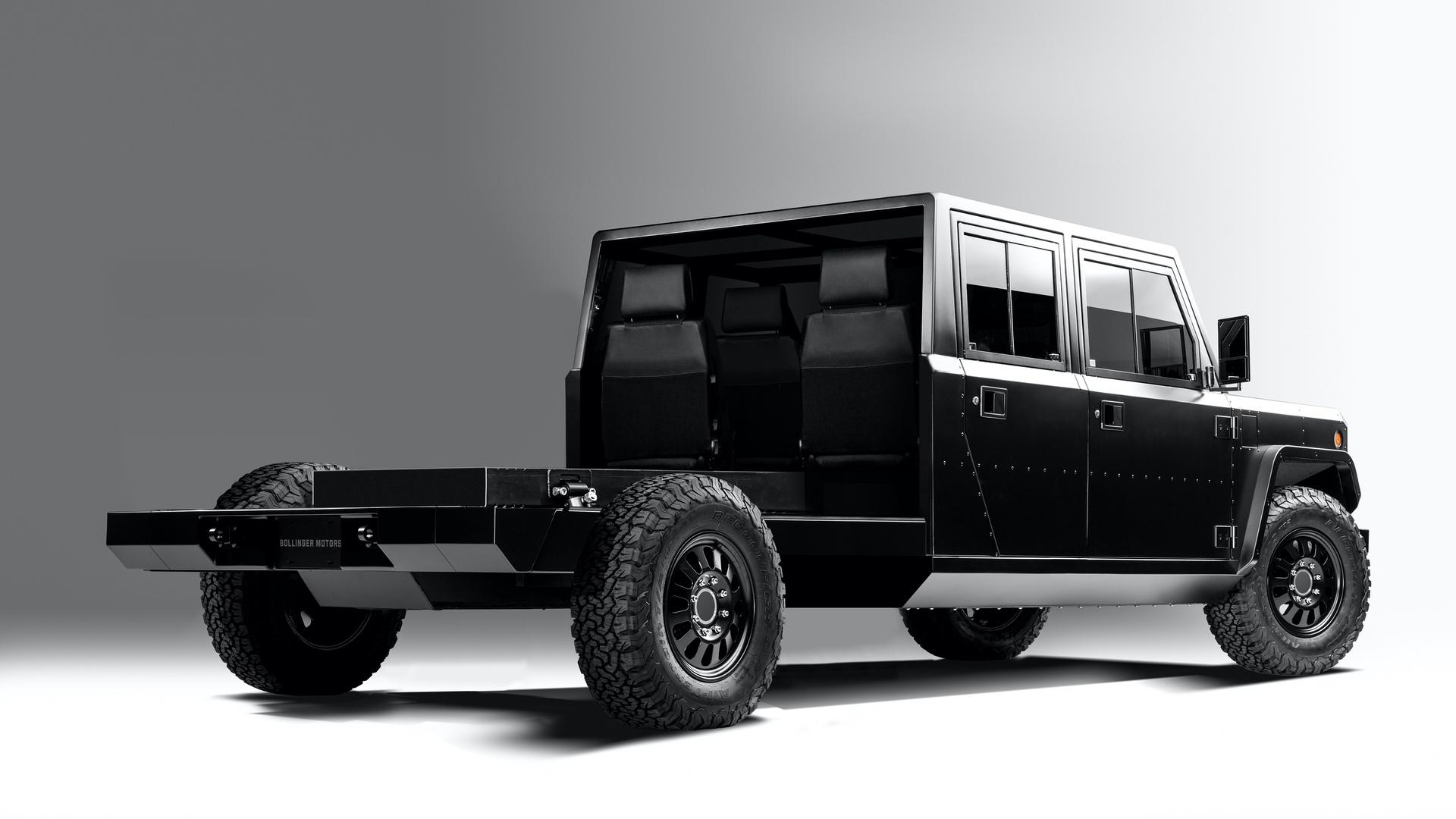 Bollinger-Motors-B2-Chassis-Cab-4-Door-Open-3_4-rear