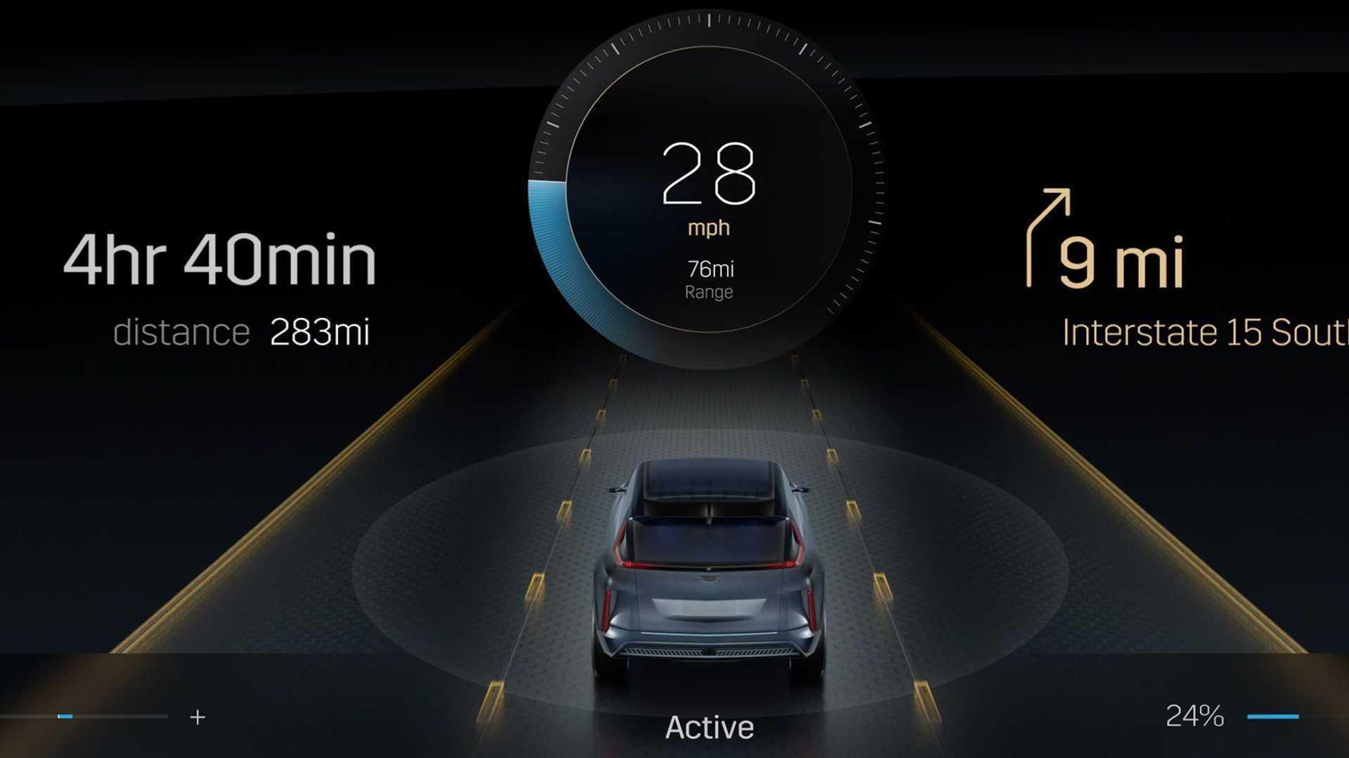 cadillac-lyriq-infotainment-display-speedometer