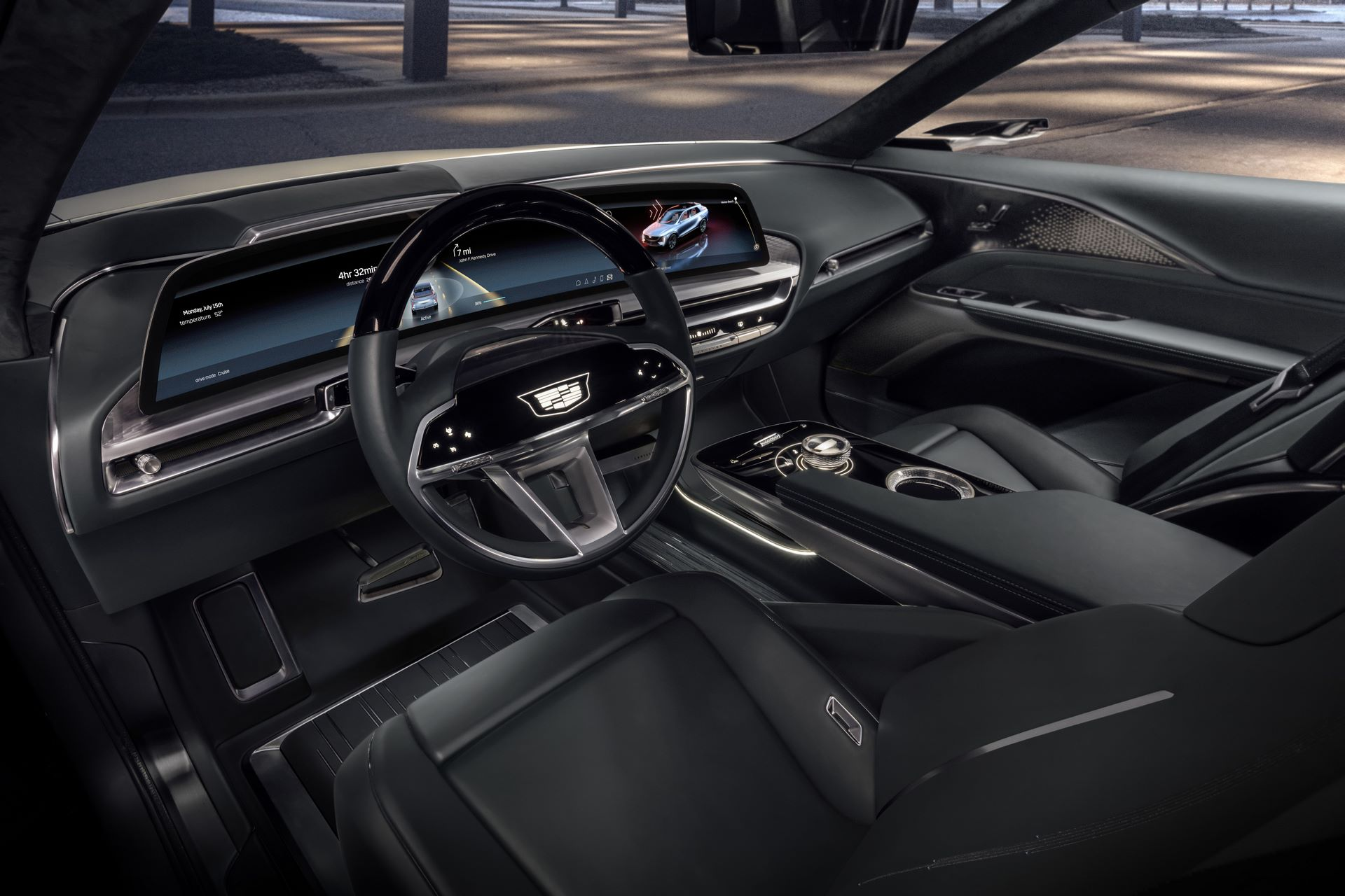 Cadillac LYRIQ's new electric vehicle architecture opens up possibilities in vehicle spaciousness and design.Images display show car, not for sale. Some features shown may not be available on actual production model.
