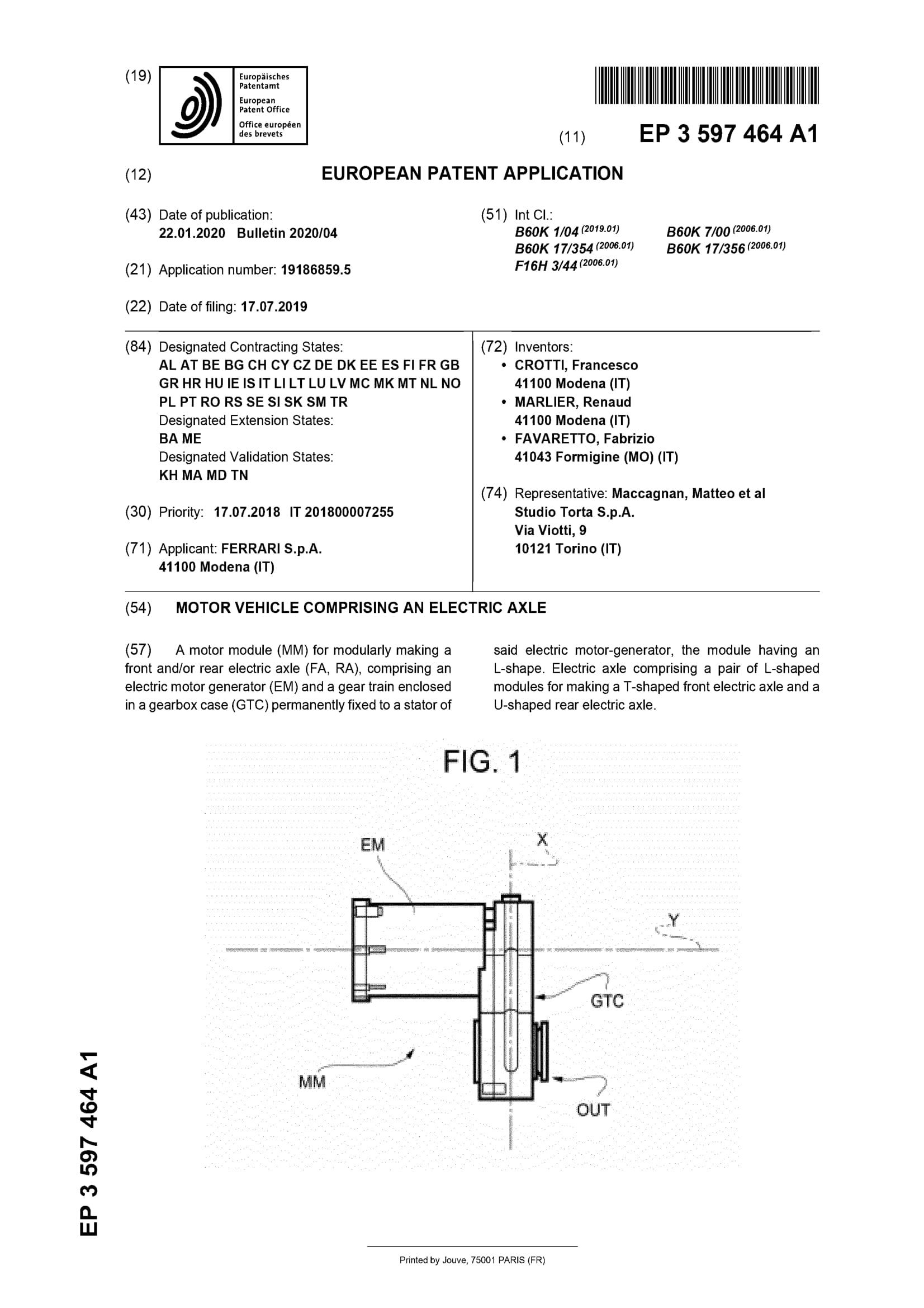 Ferrari-Electric-patent-1