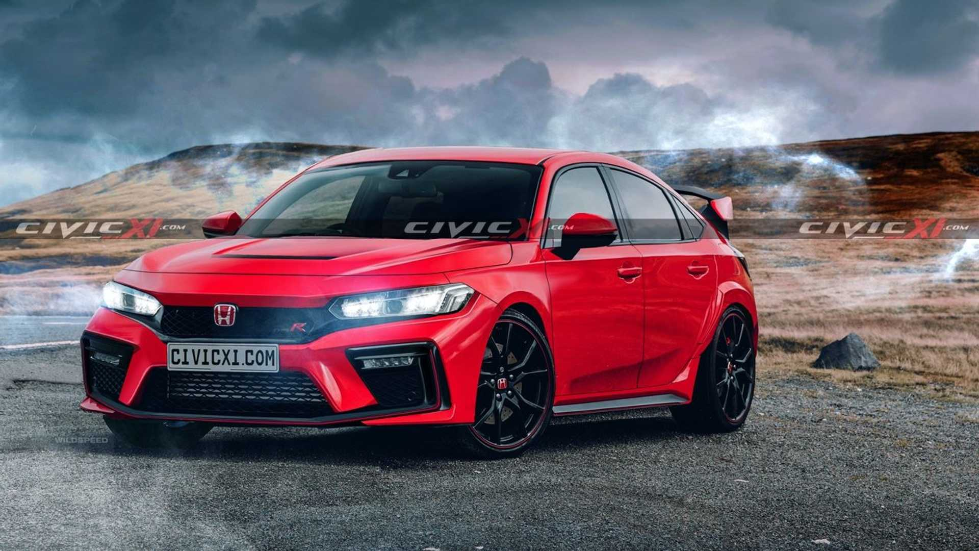 2022 honda civic type r rendering front 2