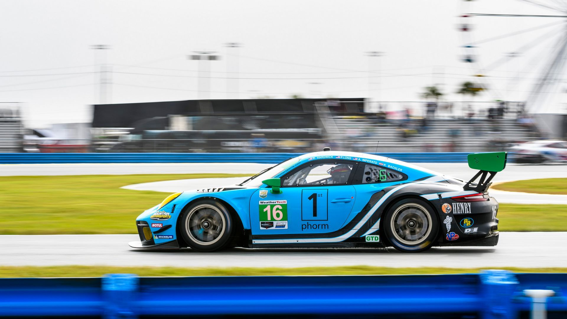 Porsche 911 GT3 R (16), Wright Motorsport: Ryan Hardwick (USA), Patrick Long (USA), Anthony Imperato (USA), Klaus Bachler (A)