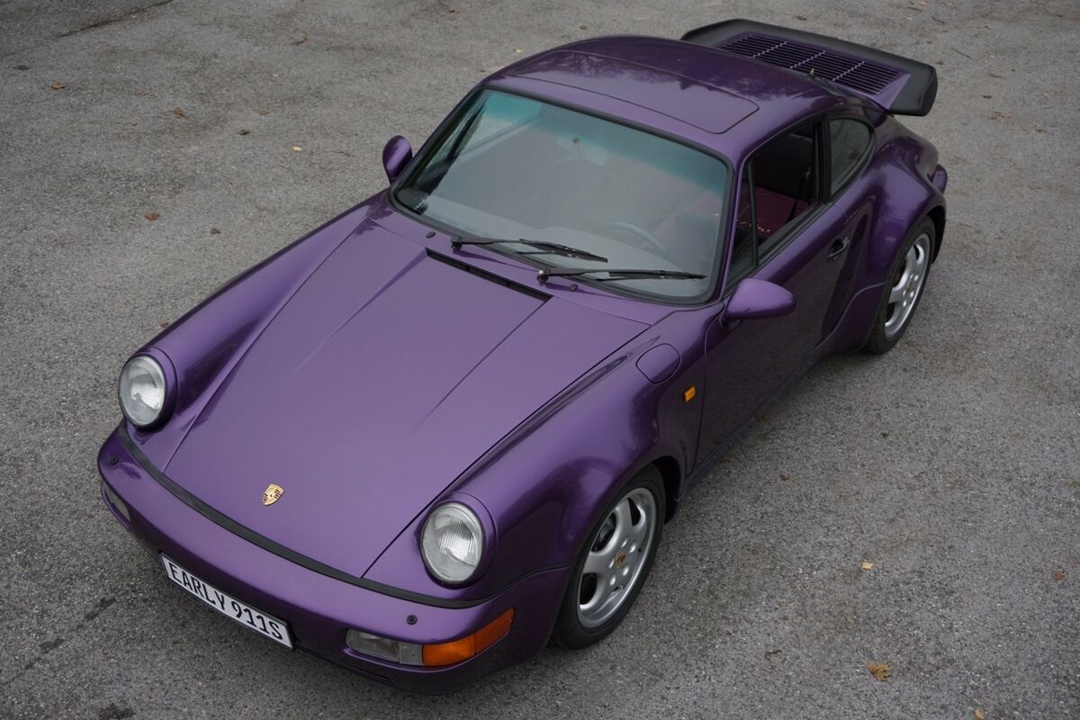 Purple-Porsche-911-964-Turbo-1991-1